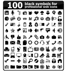 Business Icons Set black Series vector image