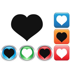 Love buttons set vector image vector image
