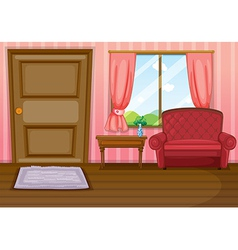 An empty living room vector image