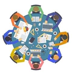 Brainstorming creative team idea discussion people vector image