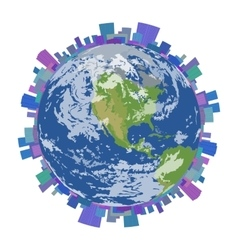 City on planet earth isolated vector