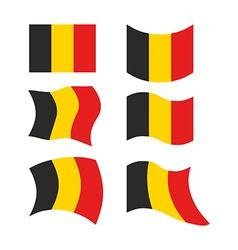 Flag of Belgium Set national flag of Belgian state vector image
