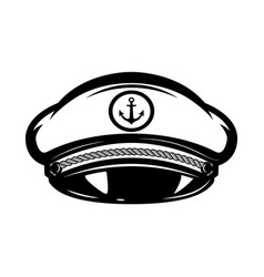 hat of sea captain isolated on white background vector image