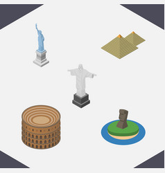 isometric attraction set of rio chile coliseum vector image