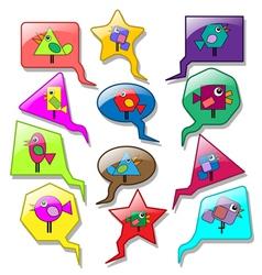 Speech bubbles vector image vector image