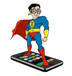 super nerd on iPhone vector image vector image