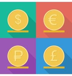 Coins icon vector image vector image
