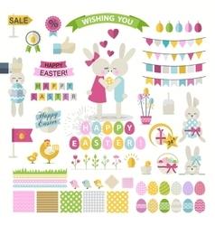 Happy Easter Set vector image vector image
