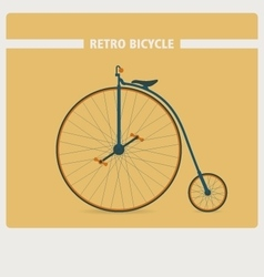 Retro style of old vintage bicycle vector image