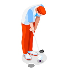 Golf 2016 Sports 3D Isometric vector image vector image
