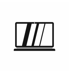 Laptop icon in simple style vector image vector image