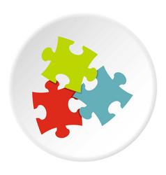 Puzzle icon circle vector