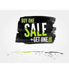 Sale watercolor banner with splashes vector image