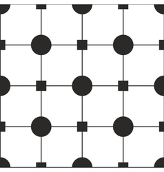 Tile black and white pattern or simple wallpaper vector image