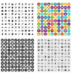 100 lending skill icons set variant vector