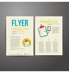Abstract Brochure Flyer design checklist vector