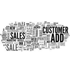 Add on sales the key to success on the web text vector