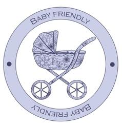 Baby friendly sticker vector