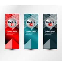 Banners division design vector
