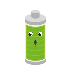 Battery level character isolated icon vector