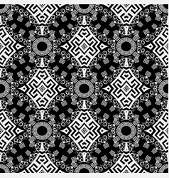 Black and white isolated greek seamless pattern vector