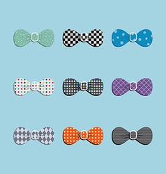 Bow tie set vector