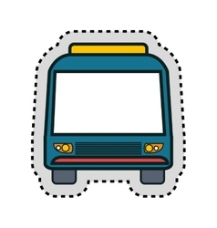 Bus vehicle public isolated icon vector