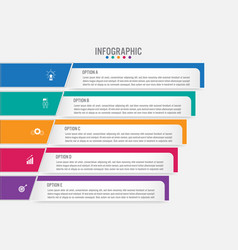 Business infographic labels template with 5 vector