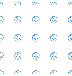 call icon pattern seamless white background vector image