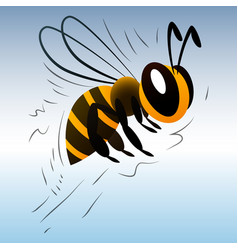 Cartoon bee on a white background vector