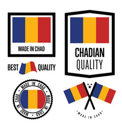 chad quality label set for goods vector image