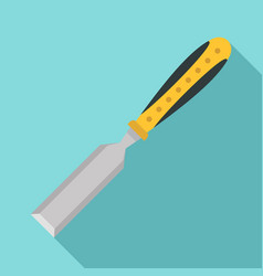 Chisel tool icon flat style vector
