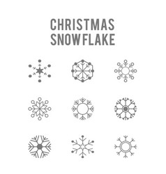Chrismtas snowflakes icons set vector