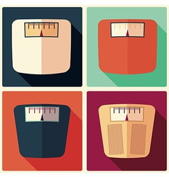 Collection of four bathroom weight scales vector image vector image