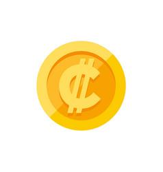 costa rican and salvadoran colon currency symbol vector image