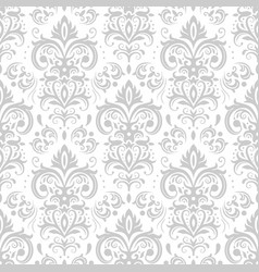 Decorative damask pattern vintage ornament vector