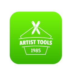 designer tool icon green vector image