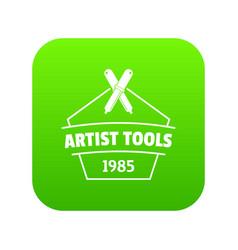 Designer tool icon green vector