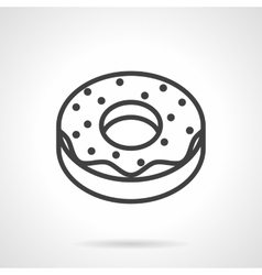 Donut simple line icon vector image