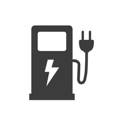 electric fuel pump icon on white background vector image