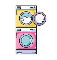 Electronic washing machine and dryer to clean vector