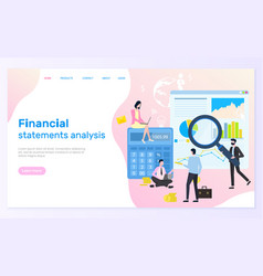 Financial statement analysis statistical graphics vector