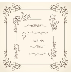 Floral Corners Borders and Frame vector