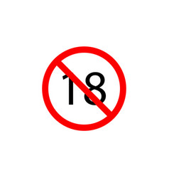 forbidden 18 age icon can be used for web logo vector image