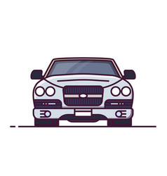 front view luxury car vector image