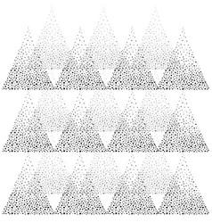 Geometric abstract triangle dot splash pattern vector