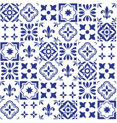 geometric tile design portuguese or spnish vector image