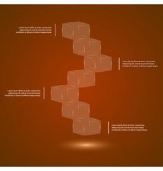 Glass cubes ledder vector