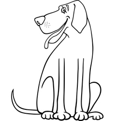 great dane dog cartoon for coloring vector image
