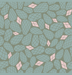 green pink cactus leaves seamless repeat vector image
